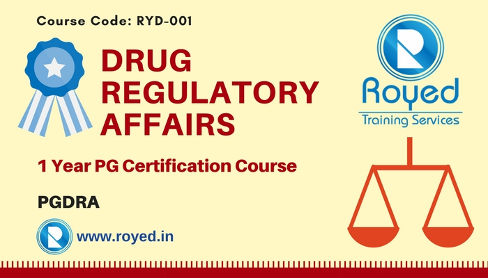 pg certification in drug regulatory affairs