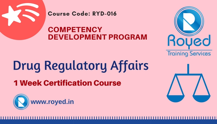 drug regulatory affairs 1 week program