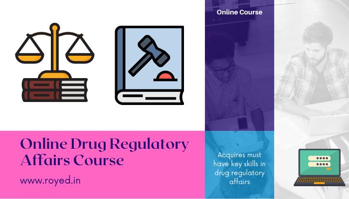 drug regulatory affairs online course