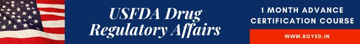 USFDA regulatory affairs course