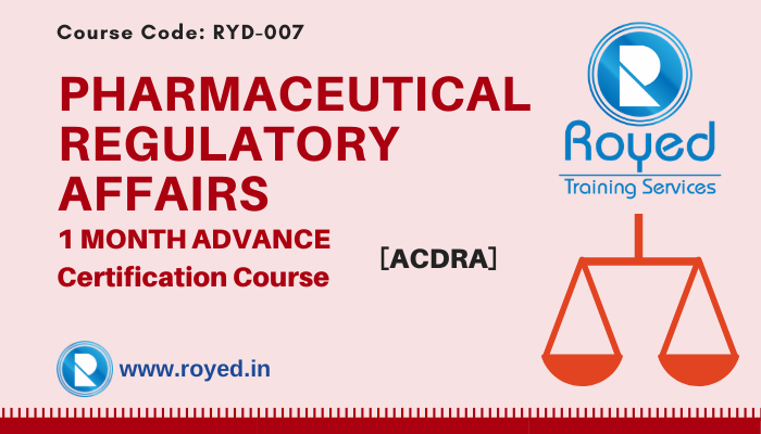 pharmaceutical regulatory affairs course