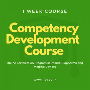 Royed competency development training in pharma