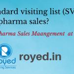 Standard visiting list SVL in pharma sales