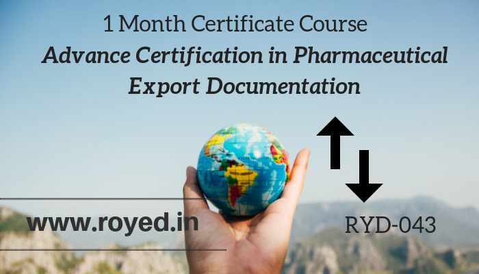 Pharmaceutical export documentation