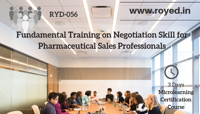 Negotiation skill training for Pharma sales professionals