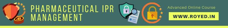 pharmaceutical IPR Management