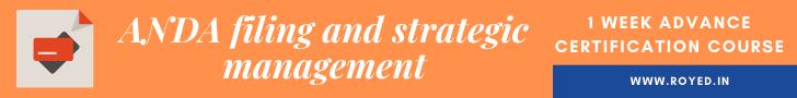 ANDA Filing and strategic management