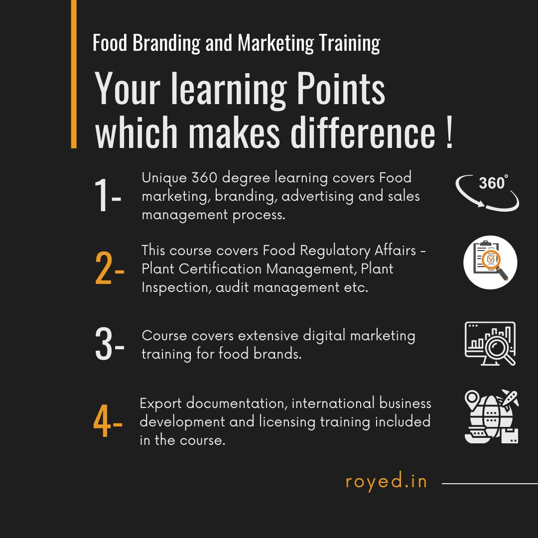 Food marketing branding course uniqueness