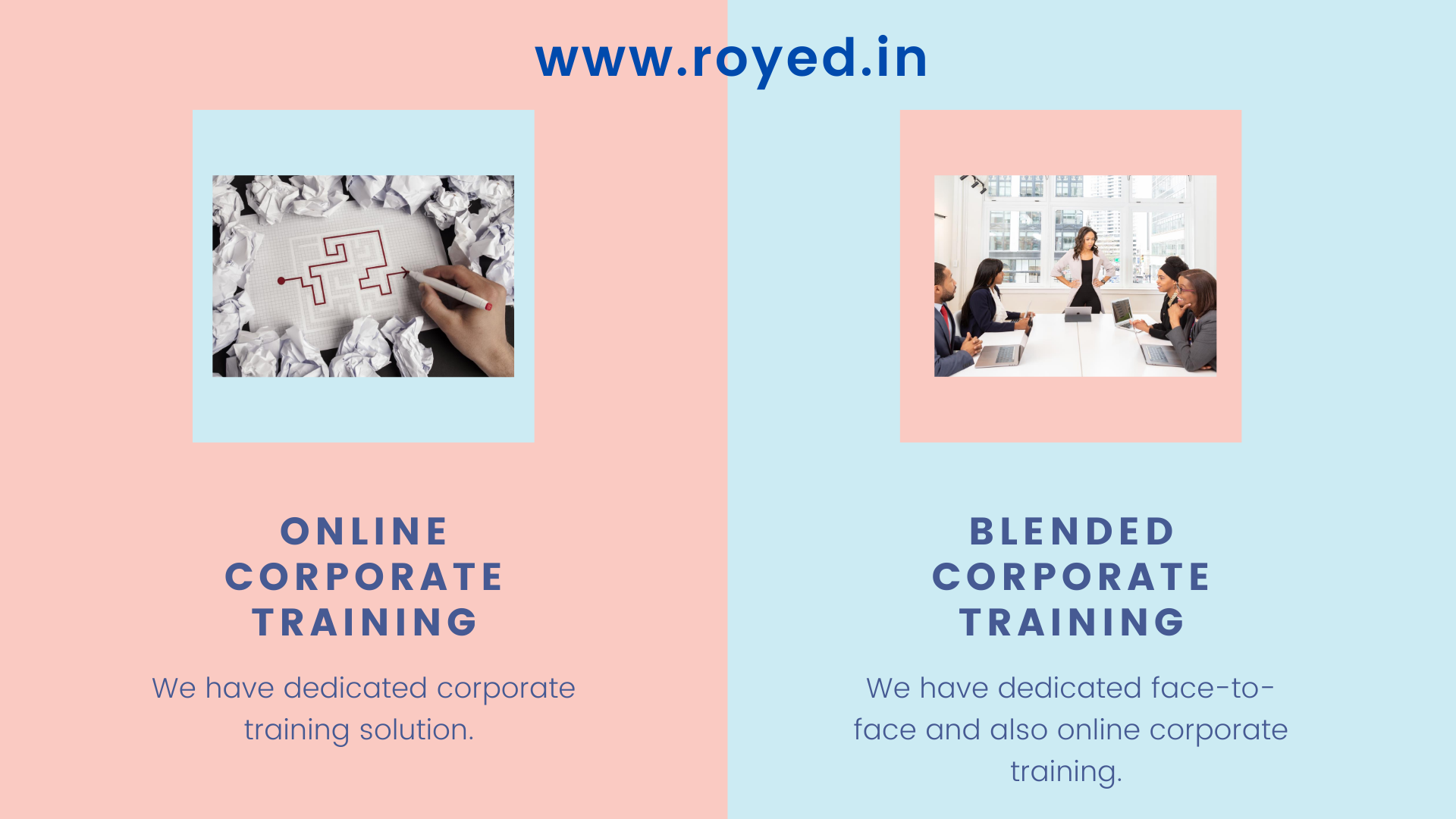 Royed Training corporate and blended learning